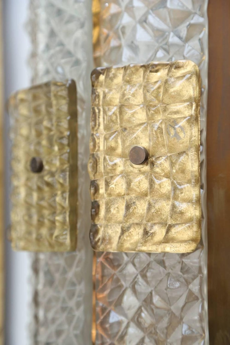 Pair of Mid-Century Modern Style Murano Glass Wall Sconces at 1stdibs