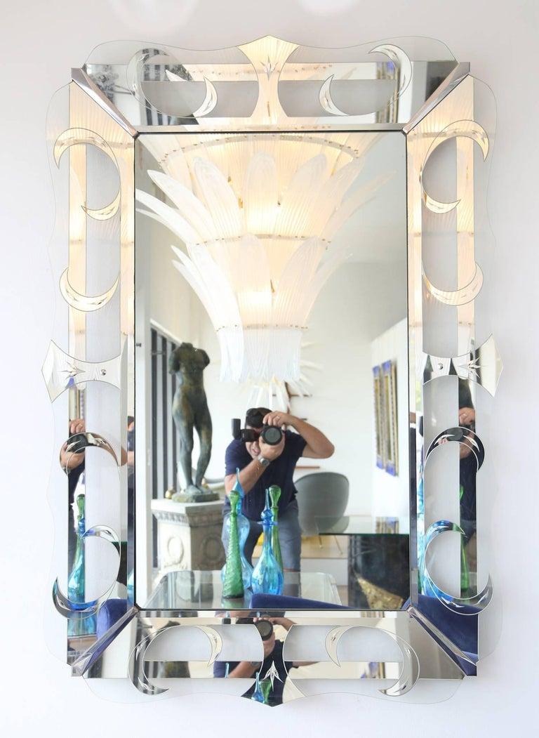 A rare grand scale Hollywood Regency mirror, USA, 1960s.