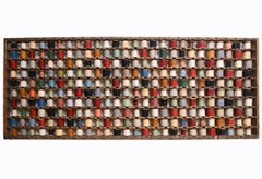 Monumental Industrial Wool Yarn Bobbin Rack