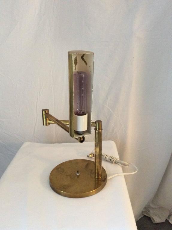 Mid-Century Modern Koch & Lowy Style Swing Arm Brass/Chrome Table, Desk Lamp 4