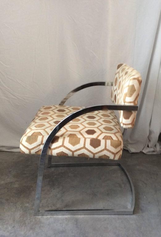 Four Mid-Century Modern Thayer Coggin Milo Baughman Chrome Dining Chairs 5