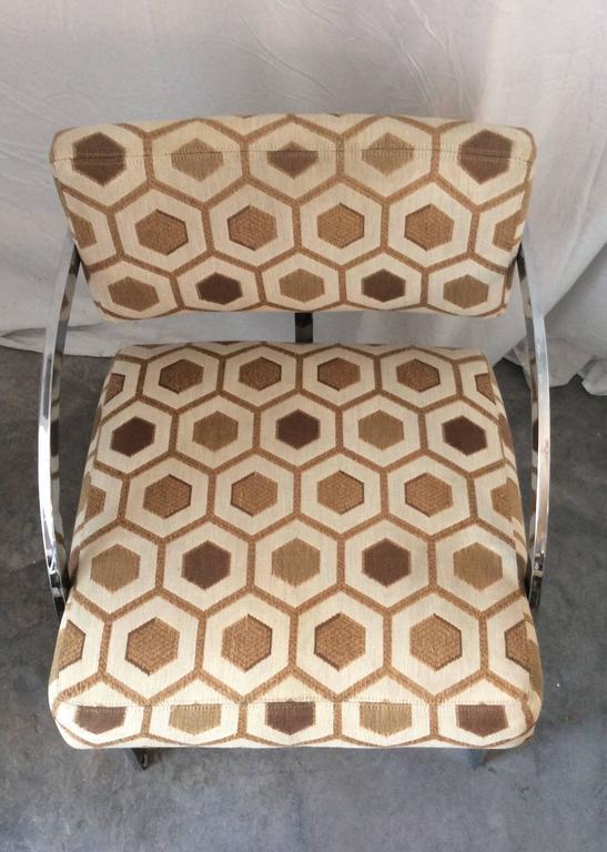 Four Mid-Century Modern Thayer Coggin Milo Baughman Chrome Dining Chairs 7