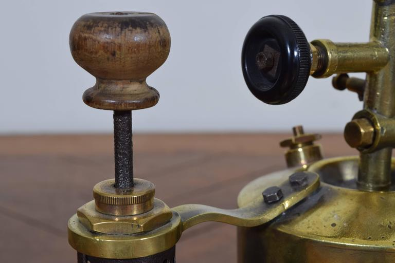 Two French Brass and Steel Oil Fueled Blowtorches, Second Half 19th Century For Sale 1
