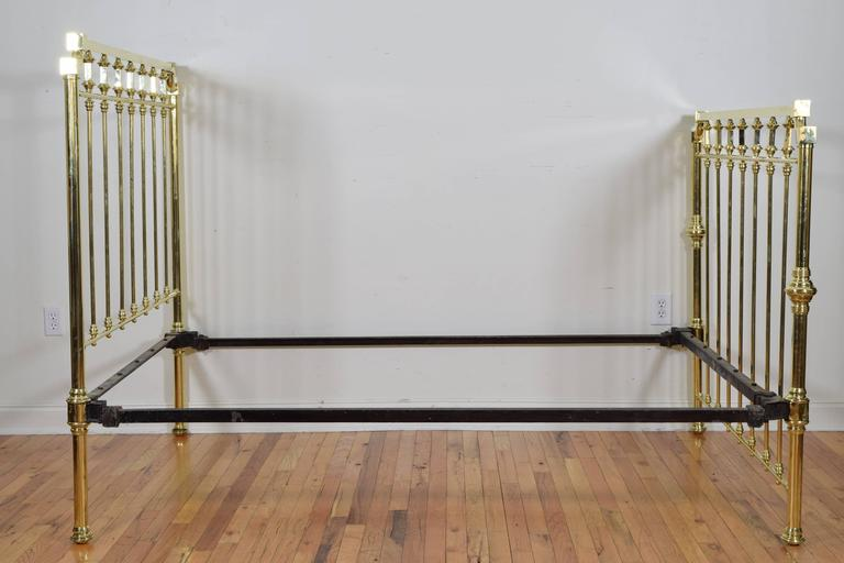 spanish sevilla brass and iron full sized bed late 19th early 20th century at 1stdibs. Black Bedroom Furniture Sets. Home Design Ideas