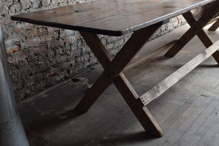 enormous round vintage dining table at 1stdibs