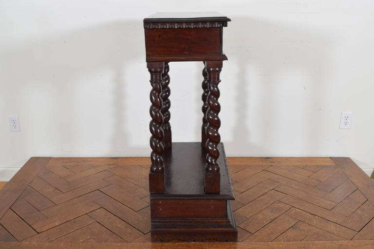 Italian Baroque Style Walnut Tall Console, 19th Century 3