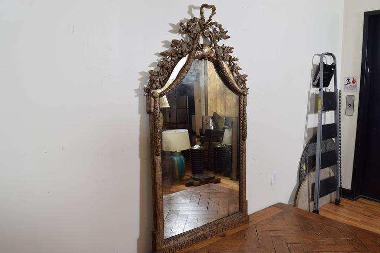 Exceptional Italian, Parma, Carved and Silvered Wooden Mirror, circa 1780 2