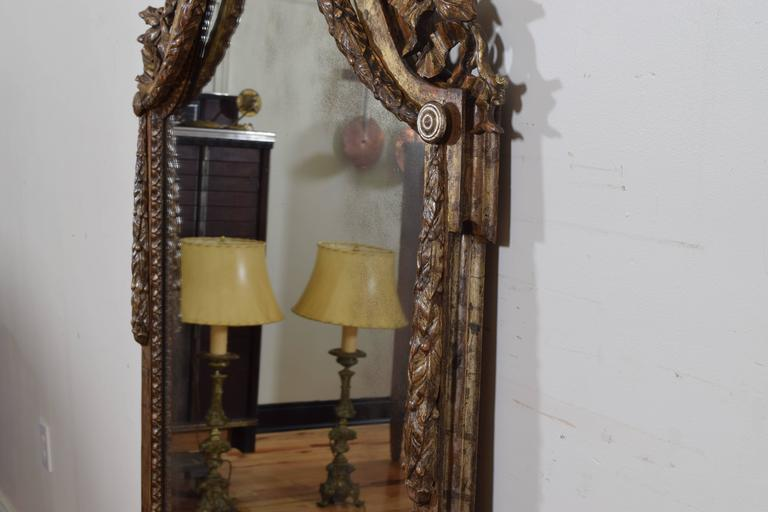 Exceptional Italian, Parma, Carved and Silvered Wooden Mirror, circa 1780 For Sale 1