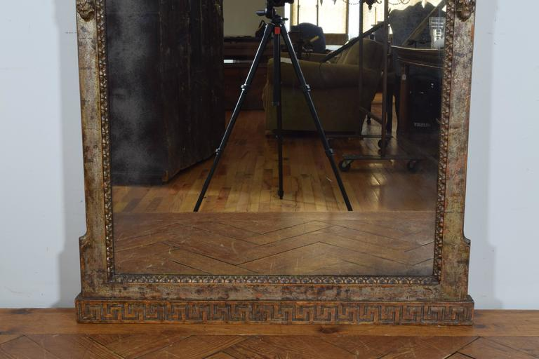 Exceptional Italian, Parma, Carved and Silvered Wooden Mirror, circa 1780 For Sale 2