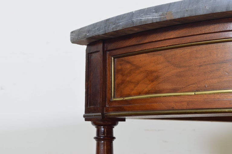 French Directoire Cherrywood, Marble-Top Console Table, Early 19th Century 6