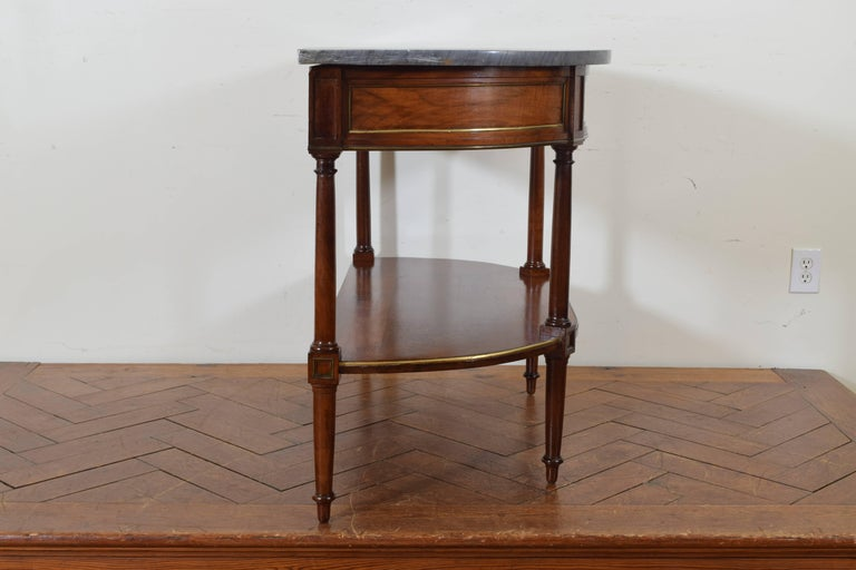 French Directoire Cherrywood, Marble-Top Console Table, Early 19th Century 3