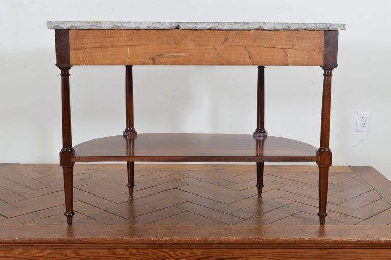 French Directoire Cherrywood, Marble-Top Console Table, Early 19th Century 4