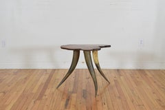 Continental Specimen Walnut and Horn Side Table