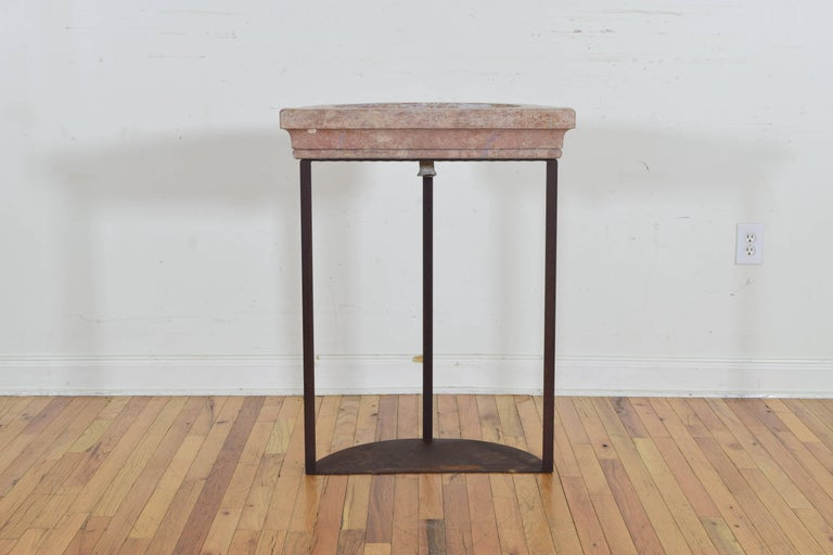 French Marble Basin on later Iron Stand, 20th Century or Earlier For Sale 1
