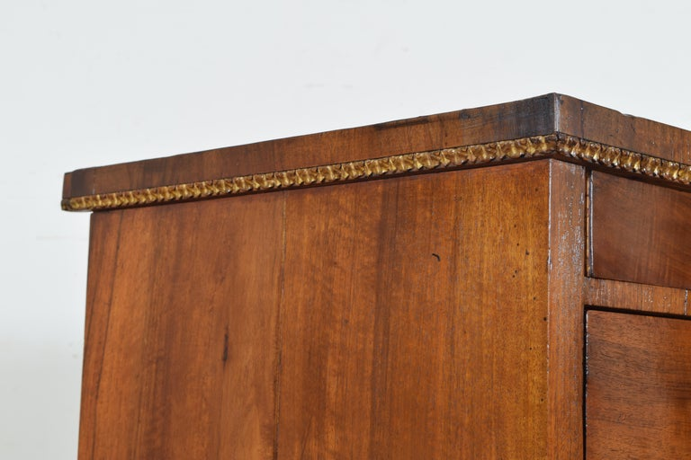 Italian, Veneto, Neoclassic Walnut and Giltwood Commode For Sale 1