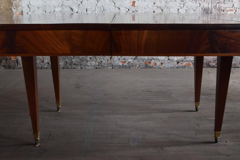 French Neoclassical Large Mahogany Dining Table Full