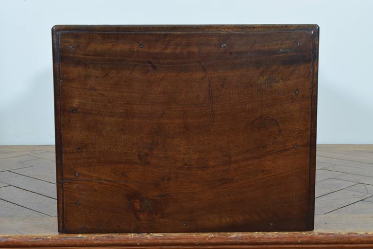 Italian Walnut Tall Three-Drawer Commode, 19th Century 3
