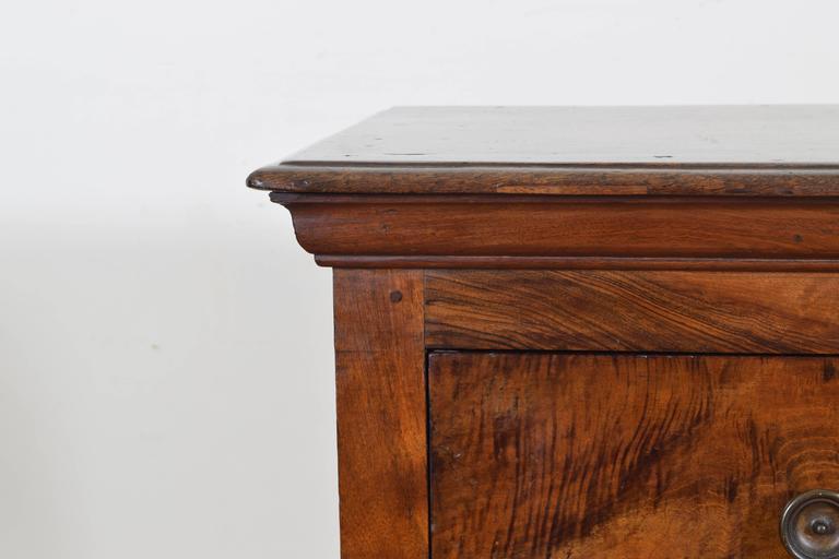 Italian Walnut Tall Three-Drawer Commode, 19th Century 4