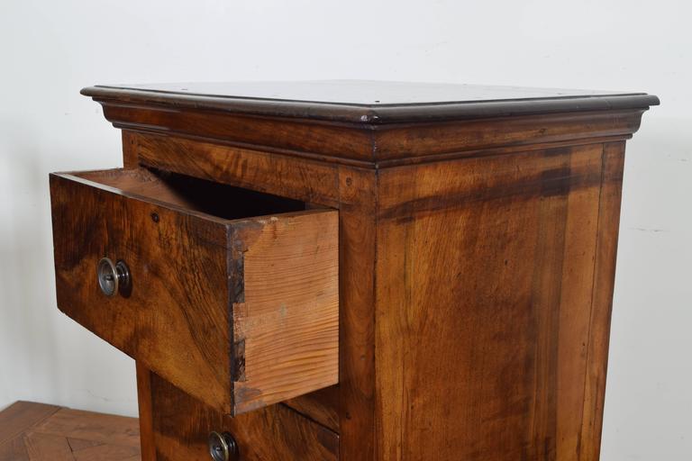 Italian Walnut Tall Three-Drawer Commode, 19th Century 7