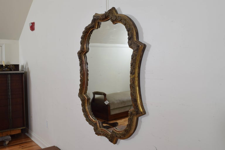 Italian Carved Giltwood Rococo Style Wall Mirror, 19th Century 2
