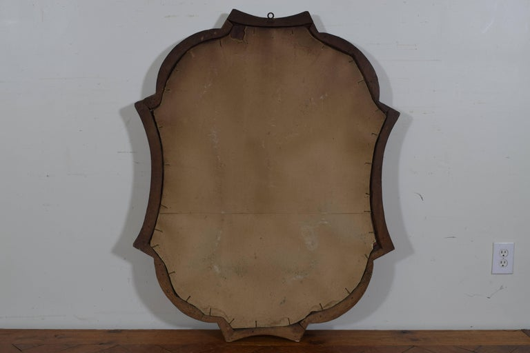 Italian Carved Giltwood Rococo Style Wall Mirror, 19th Century 5