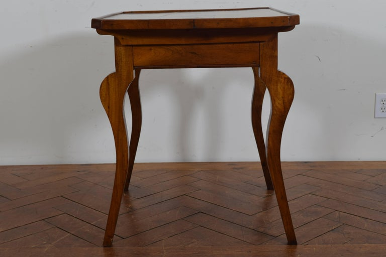French Louis Philippe Walnut One Drawer Table, circa 1840 3