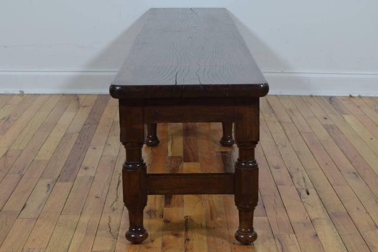 French Mid 19th Century Long Oak Bench At 1stdibs