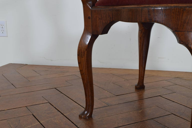Dutch Yew Wood Corner Chair From The Queen Anne Period
