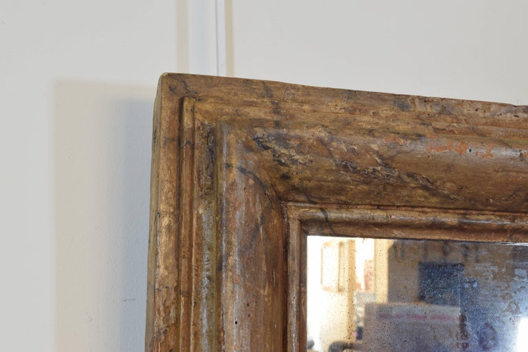 Italian Lxiii Period Faux Marble Painted Mirror Circa