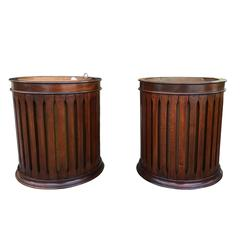 Pair of 19th Century Copper Lined English Buckets in the Style of George III