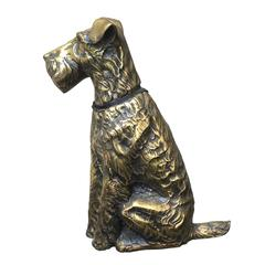 Large Brass Airdale Doorstop