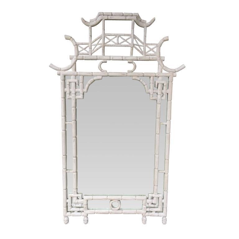 Midcentury Bamboo Mirror 1