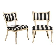 Pair of Mid-Century Italian Klismos Chairs