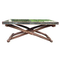 Early to Mid-20th Century Italian Mirrored Coffee Table in the Style of Jansen