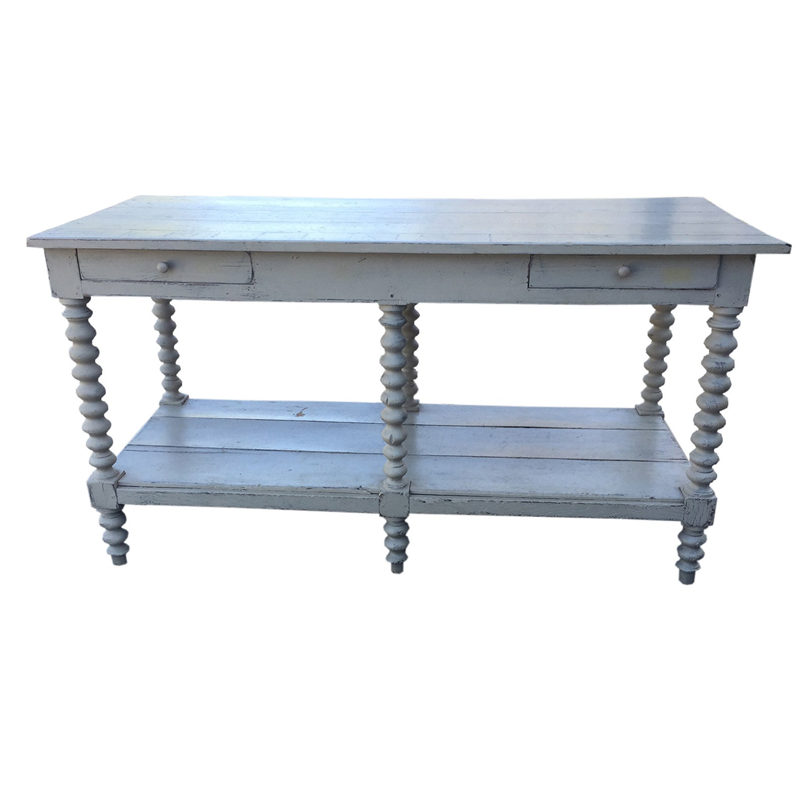 19th-20th Century Painted American Work Table