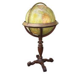 Rand McNally & Co.Terrestrial Globe on Stand, circa 1920