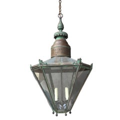 Large 19th Century English Octagonal Exterior Lantern