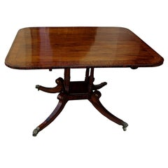 19th Century English Regency Style Inlaided Rosewood Table