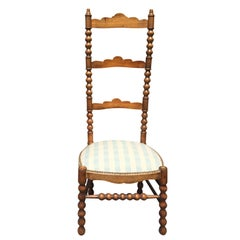 19th Century Fruitwood High Back French Chair