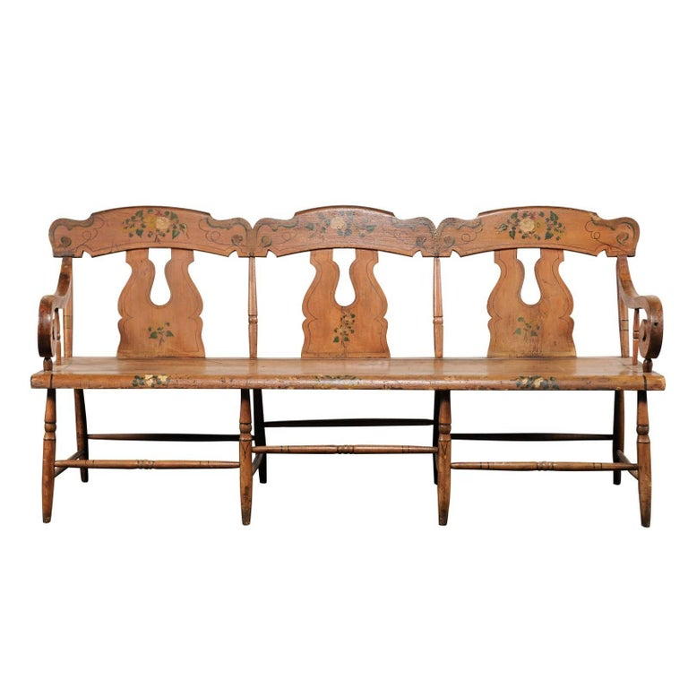 19th Century American Painted Bench