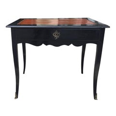 18th-19th Century French Regence Style Ebonized Black Writing Table