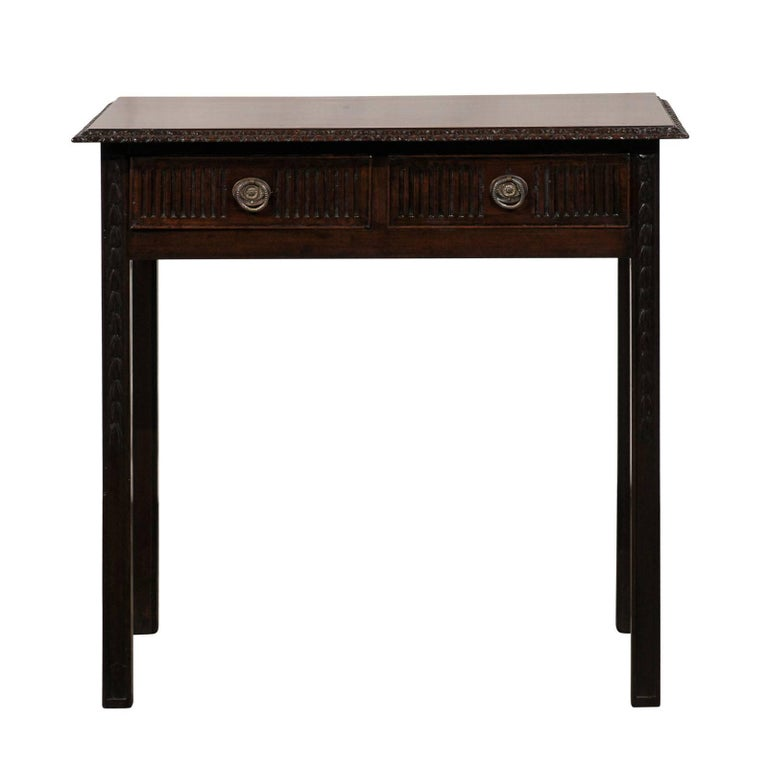 18th Century English Provincial Two-Drawer Table