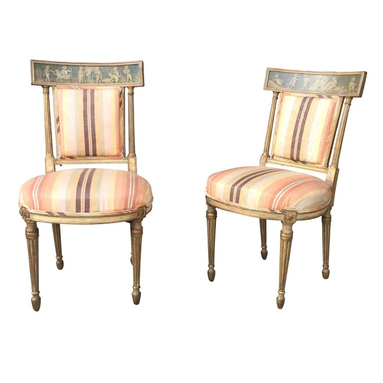 Pair of 19th Century English Neoclassical Side Chairs