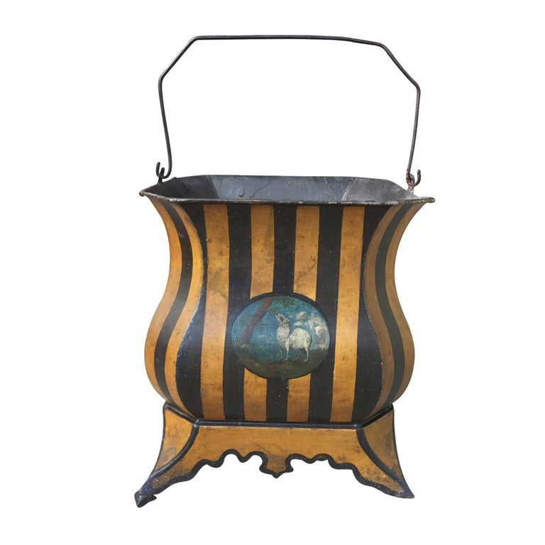 19th Century French Tole Bucket