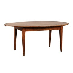 19th Century French Oval Farm Table