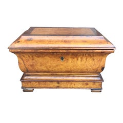 French Charles X Fruitwood Tea Caddy, circa 1820