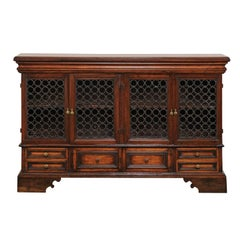 18th Century Italian Four-Door Credenza with Drawers, Iron