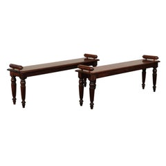 Pair of 19th Century English Regency Style Hall Benches