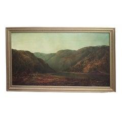 20th Century Mountain Landscape by W.H Hillard