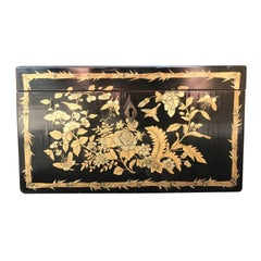 Chinoiserie Tea Caddy with Pewter Liner, circa 1820